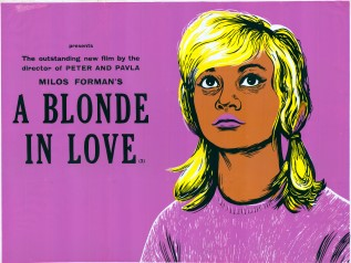 A Blonde in Love 1965 Peter Strausfeld linocut