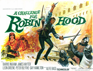 A Challenge for Robin Hood 1967 Quad Poster