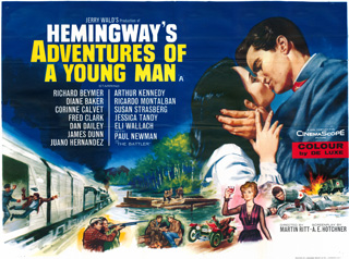 Hemingway's Adventures of a Young Man 1962 Quad Poster Tom Chantrell