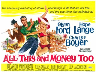 All This And Money Too 1963 Quad Poster US Love Is A Ball