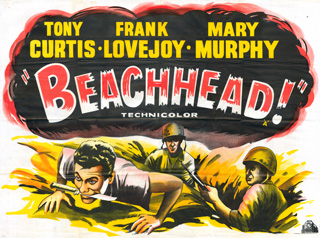 Beachhead 1954 Quad UK Poster