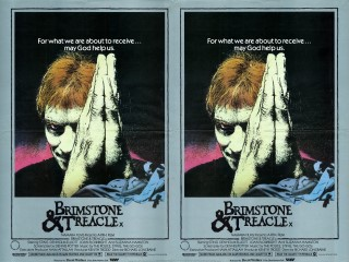 Brimstone and Treacle 1982 Quad Poster