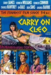 Carry on Cleo 1964 1 Sheet Art Tom Chantrell