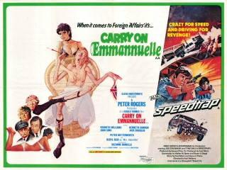 Carry On Emmannuelle - Speedtrap 1978 Quad Poster