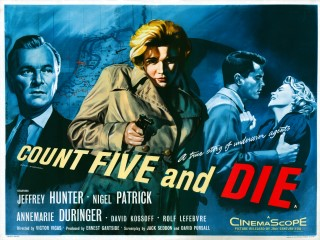 Count Five and Die 1958 Quad poster