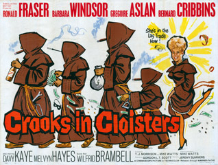 Crooks in Cloisters 1964 Quad English Poster