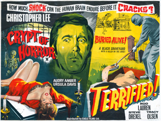 Crypt of Horror 1966 Terrified 1963 UK Quad Poster