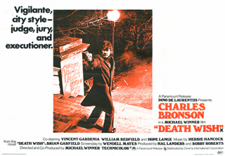 Death Wish 1974 Quad English Poster