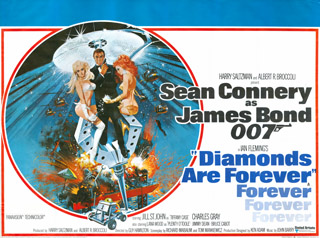 Diamonds Are Forever 1971 Quad Art Robert McGinnis