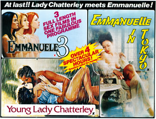 Emmanuelle III 1977 Young Lady Chatterley 1977 Emmanuelle in Tokyo 1976 Quad