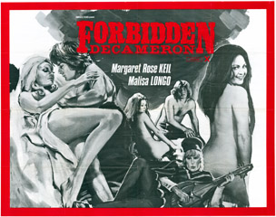 Forbidden Decameron 1972 Quad British Poster