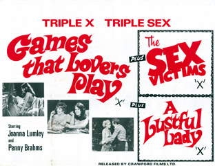 Games That Lovers Play 1971 The Sex Victims 1973 Quad Poster