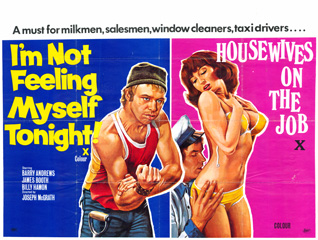 Im Not Feeling Myself Tonight 1976 Housewives On The Job 1973 UK Poster