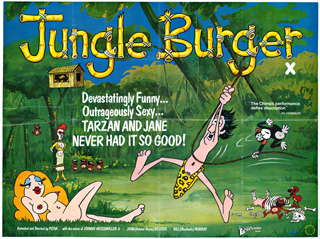 Jungle Burger 1975 British Quad Poster