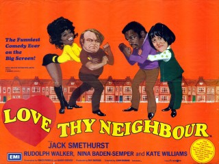 Love Thy Neighbour 1973 Quad Signed Arnaldo Putzu