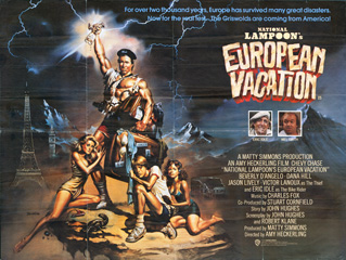 National Lampoons European Vacation 1985 Quad UK POster