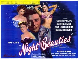 Night Beauties 1952 Quad French Les Belles de Nuit