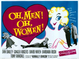 Oh, Men! Oh, Women! 1957 Quad Poster