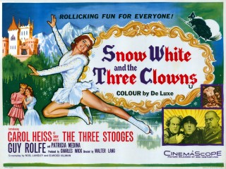 Snow White and the Three Clowns US Stooges 1961 Quad Poster