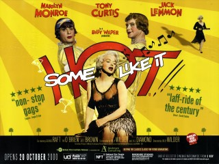 Some Like It Hot 1959 Quad BFI re-release 2000 Poster