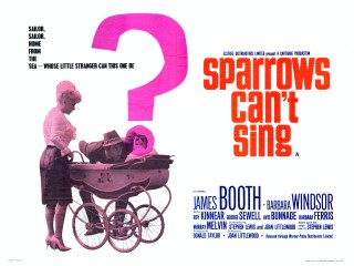 Sparrows Can't Sing 1963 Quad Poster