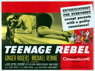 Teenage Rebel 1956 Quad poster