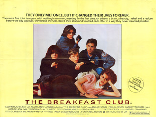 The Breakfast Club 1985 Quad British Poster