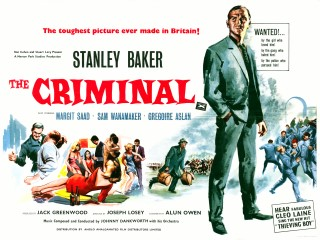 The Criminal 1960 Quad Poster