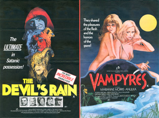 The Devil's Rain 1975 Vampyres 1974 Quad UK Poster