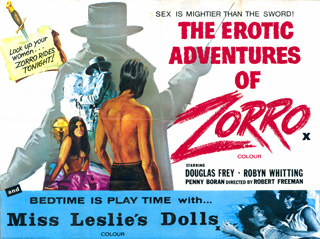 The Erotic Adventures of Zorro 1972 Quad British Poster