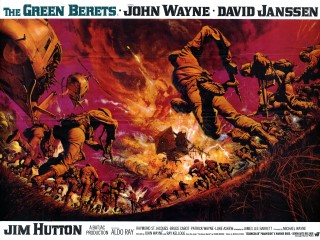 The Green Berets 1968 Quad UK Poster