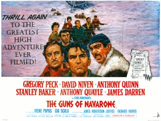 The Guns of Navarone 1961 rerelease UK poster