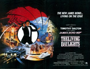 The Living Daylights 1987 British Quad Art Brian Bysouth