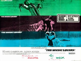 The Music Lovers 1970 Quad Poster