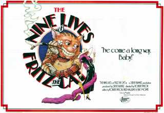 The Nine Lives of Fritz The Cat 1974 Quad Poster