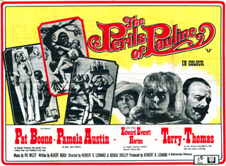 The Perils of Pauline 1967 Quad UK Poster
