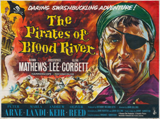 The Pirates of Blood River 1962 Quad UK poster