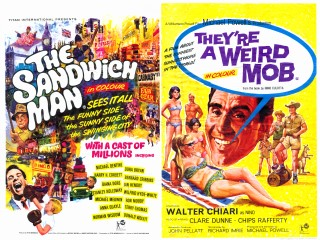 The Sandwich Man 1966 They're A Weird Mob 1966 Quad UK Poster