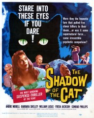 The Shadow of the Cat 1961 US Window Card