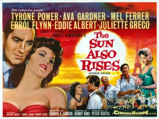 The Sun Also Rises 1957 Quad poster