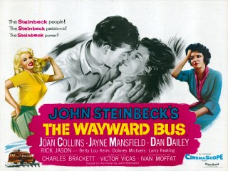 The Wayward Bus 1957 Quad poster