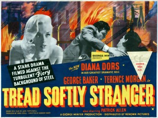 Tread Softly Stranger1958 British Quad Art F W Payne