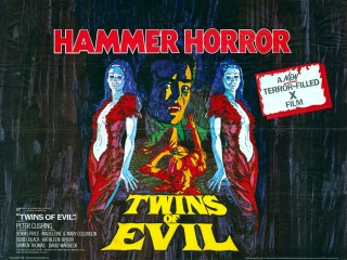 Twins of Evil 1971 Quad Poster