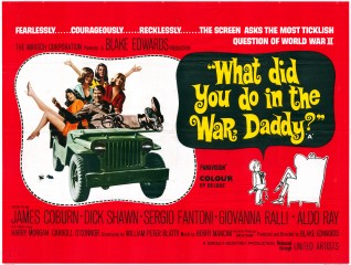 What Did You Do In The War Daddy 1966 Quad Poster