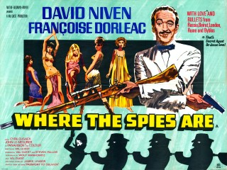 Where The Spies Are 1965 Quad Poster